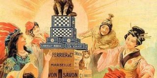 『猫と和解せよ』およそ130年前のフランスの洗剤広告 世界中の人々の中央に座る猫さんが神々しい…!「復刻版的な可愛いパッケージ出して欲しい」 - Togetter