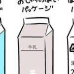 牛乳のパッケージ、おしゃれにするのもいいけど本当はこうしてほしい、という意見に同意の声多数。でも「そうすると売れない」との声も – Togetter