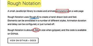 SVGでテキストにマーカーを引いたり、くるっと丸く囲む超軽量JavaScriptライブラリ -Rough Notation   コリス