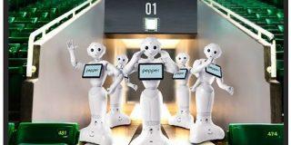 無観客のライトスタンドでPepperがダンス ソフトバンクホークスがロボット応援団 - ITmedia