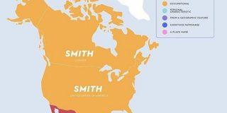 日本は「佐藤」アメリカ・カナダなどは「スミス」朝鮮・中央アジアは「キム」…世界の国ごとに一番多い名字を記した図がとても興味深い - Togetter