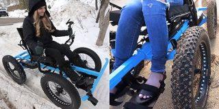 山道も雪の中もガンガン走破可能なアウトドア向けスーパー車椅子「Not A Wheel Chair」 - GIGAZINE