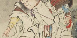 葛飾派絵師によって描かれたスサノオの沓がスニーカーにしか見えないと感じる人達。「これは『KEENのユニーク』では」「あれはG-SHOCK?」の声も - Togetter