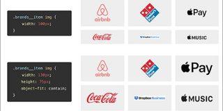 CSSでロゴのようにサイズが異なる画像を美しく揃えて配置するスタイルシートの実装テクニック | コリス