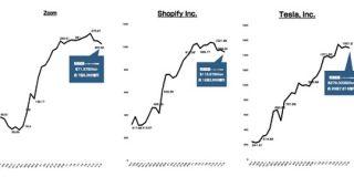 Zoom Shopify Teslaの3社はこの1年でどのくらい株価を伸ばしたのか : 東京都立戯言学園