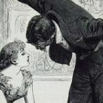 ヴィクトリア時代の「壁ドン」絵、優雅と思いきや「フラれる5秒前」っぽい?→その秘密は女性の扇の持ち方にあった – Togetter