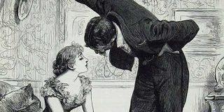 ヴィクトリア時代の「壁ドン」絵、優雅と思いきや「フラれる5秒前」っぽい?→その秘密は女性の扇の持ち方にあった - Togetter