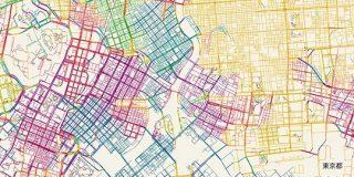道路を方角ごとに塗り分けると、その街のでき方がわかる : デイリーポータルZ