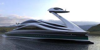 超巨大なスワンボート!?全長134メートルの「白鳥型メガヨット」が美しい | ナゾロジー