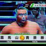 宿泊先のホテルのテレビがサイバーなバグり方をしており、電脳世界での相撲が中継されていた「おそらくSUMOU」「相撲が無修正…だと!?」 – Togetter