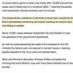 イギリスで新型コロナ症例記録がExcelの行数限界に気づかず1万6000件の集計漏れ→なお形式はXLSだったもよう – Togetter