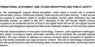 日本を含む7カ国、エンドツーエンド暗号化コンテンツへの公的接続を可能にするよう要請する国際声明 - ITmedia