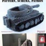 「ひと目で見て判別できるデザイン」「編みたい!」タイガー戦車型のスリッパが可愛くて欲しすぎる – Togetter