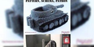 「ひと目で見て判別できるデザイン」「編みたい!」タイガー戦車型のスリッパが可愛くて欲しすぎる - Togetter