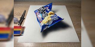 色鉛筆で堅あげポテトの絵を描きました!!→商品置いただけのネタツイートだと思ったら途中経過を見て震えた - Togetter
