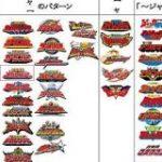 貴重な休み潰してまとめ上げた「スーパー戦隊シリーズのロゴの『ャー』の部分がどうなっているか」の一覧がいろいろと興味深い – Togetter