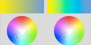 グラデーションを美しくするには配色が重要、真ん中辺りがグレーにくすんでしまうのを避ける方法 | コリス