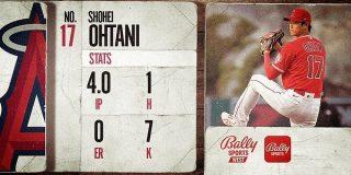 大谷翔平(打).310、5本、13点、OPS1044 (投)8.2回、防1.04、奪三振14 MLB NEWS