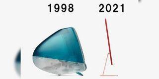 【インターネット老人会】「23年の技術の進歩がエグい」新型iMacと初代iMac の厚みを比較してみた図に色々感じる方々 - Togetter