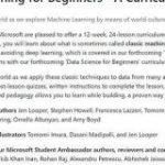 米Microsoftが機械学習のオリジナル教材を無償公開 AIとデータサイエンスについても順次リリース – ITmedia