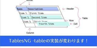 HTML tableの実装がこれまでと変わる!Googleデベロッパーによる変更点の解説 -TablesNG   コリス